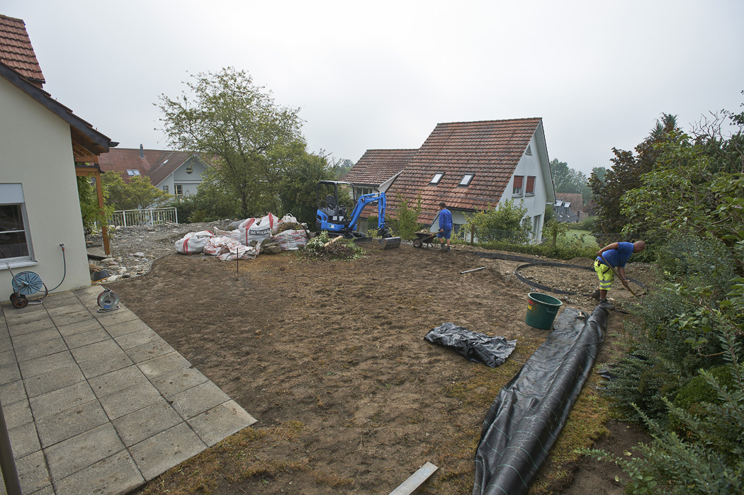 Gartenumgestaltung in Egg